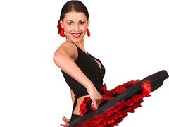 Элегантная прическа для танца фламенко